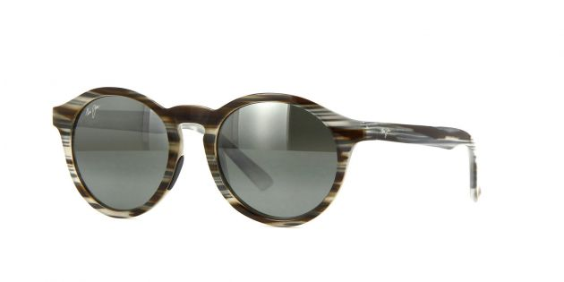 MAUI JIM 784-14D GREY&BROWN STRIPE